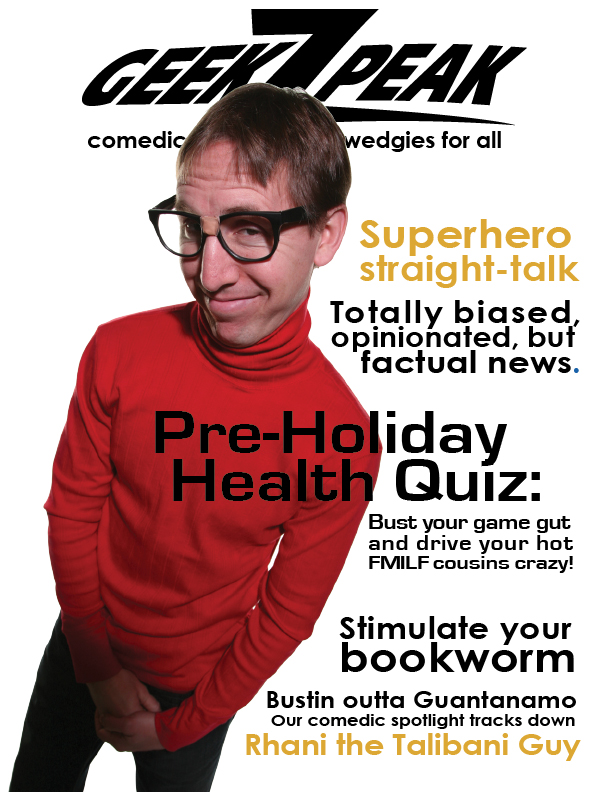 Cory Jarvis on the cover of GeekZpeak Magazine